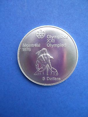 """XXI. OLYMPIADE MONTREAL 1976 - 5 Dollars - Silber -  """"KANUTE"""""""
