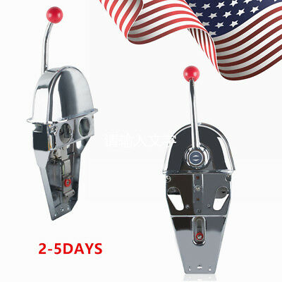 Boat Single Control Lever Marine Engine Outboard Control Handle Top Mount UPS-CA