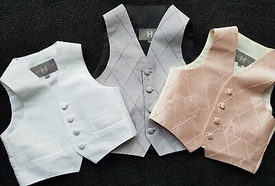 boys child diamond style WAISTCOAT occasion WEDDING age 2 4 5 7 10 12 14 15 NEW