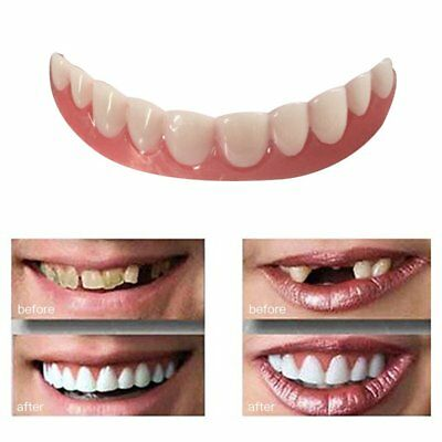 Perfect Instant Smile Comfort Fit Flex Teeth Whitening Denture Paste Cover ~GH