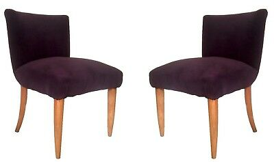 15% off Mid Century Modern Pair of Italian Ultraviolet Cocktail Chairs