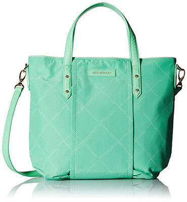 NWT $98 Vera Bradley Preppy Poly Satchel Bag Tote in Mint  ✿ SPRINGTIME COLOR!