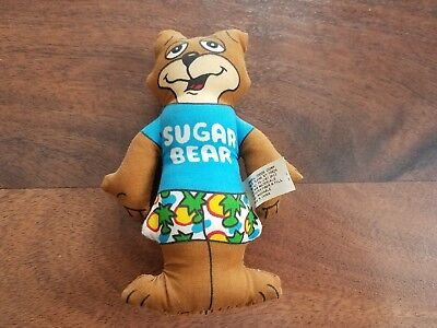 "Vintage SUGAR BEAR Post Sugar Crisp Cereal 4"" Plush Cloth Hawaiian Doll Toy!!"