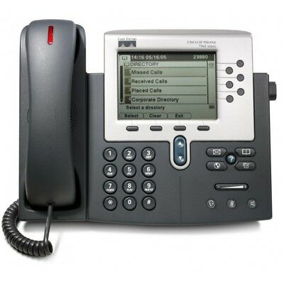 Cisco CP-7961G Refurbished  IP Phone W/ Stand, handsets, cords