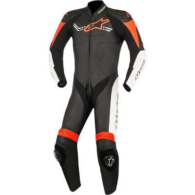 Motorcycle Alpinestars Challenger Leather Suit V2 1 Piece - Black White Red UK S