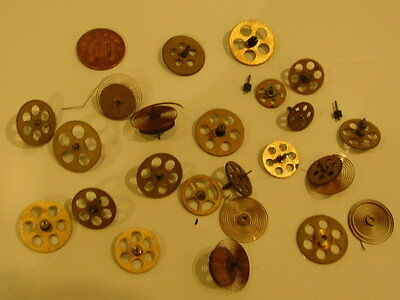 clock spares .25 brass gears ,springs ,shafts