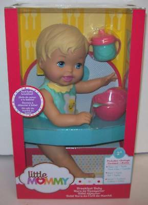 Little Mommy Breakfast Baby Doll with Sippy Cup Spoon and Bowl NEW