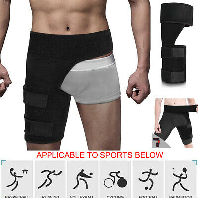 Thigh Support Brace Groin Hamstring Injury Sprains Pain Relief Leg Wrap Hip New