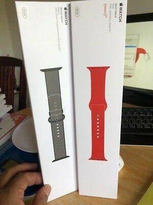 BRAND NEW GENUINE Apple Watch Sport Woven Nylon 38mm Band AVAILABLE IN RED & BLK