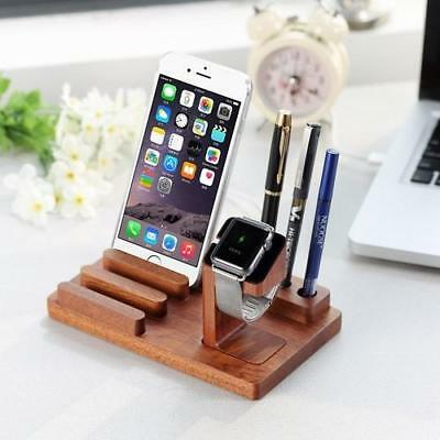 Wood Multi Function Phone Stand Watches Holder