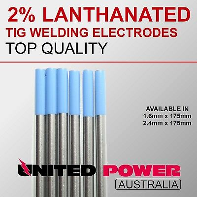 5 rod 1.6mm + 5 rod 2.4mm TIG TUNGSTEN 2% LANTHANATED BLUE 175mm LENGHT