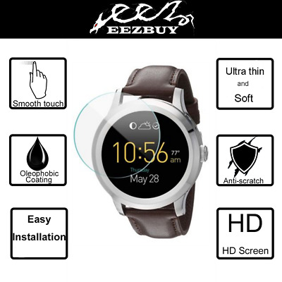3X Eezbuy LCD Screen Protector Skin HD Film For Fossil Q Founder Smartwatch