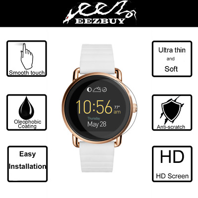 3X Eezbuy LCD Screen Protector Skin HD Film Saver For Fossil Q Wander Smartwatch