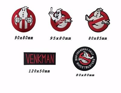 """Ghostbusters Movies No Ghosts Logo Embroidered Iron//Sew On Patch 3.5/"""""""