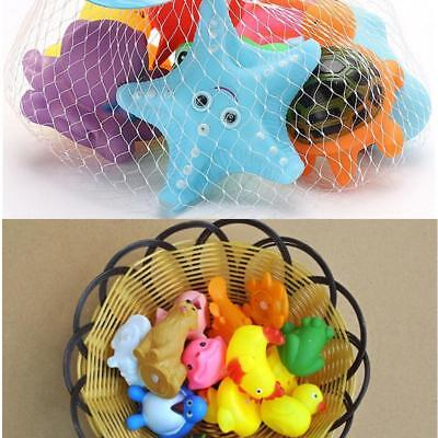 2pcs Mixed Different Animal Children Washing Baby Bath Toys Soft Rubber Float