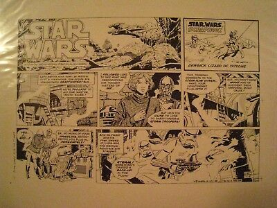 STAR WARS Newspaper Strip Proof from 1981 Al Williamson L.A.Times Mint Condition