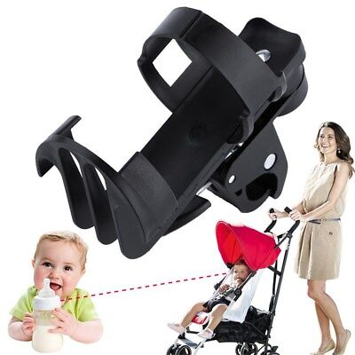 Black Plastic Baby Stroller Parent Console Organizer Cup Holder Buggy Jogger GL