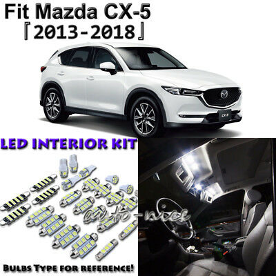 10 x White Interior LED Light Package Kit for 2013 - 2016 2017 2018 Mazda CX-5