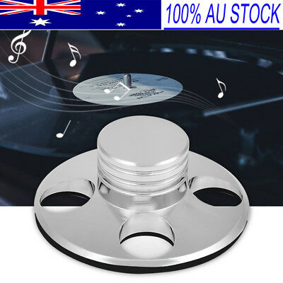 Audio LP Vinyl Turntables Metal Disc Stabilizer music Record Clamp Silver AU