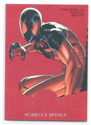 2017 FLEER ULTRA SPIDER-MAN MARVEL métal PMG Rouge MM37 Scarlet Araignée 44/99