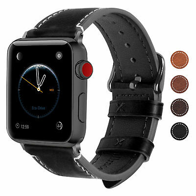 For Apple Watch iWatch Series 4 3 2 1 Genuine Leather Band 38mm 42mm Wrist Strap