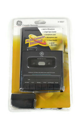 New! GE Personal Portable Cassette Recorder 3-5027 Tape Player AC/DC Sealed!