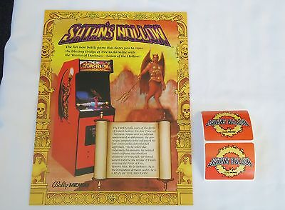 1982 Bally Midway Satan's Hollow Flyer W/2 Promo Stickers