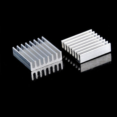 10Pcs 20mm x 20mm x 6mm Aluminum Heatsink For IC MOSFET SCR CPU NJ