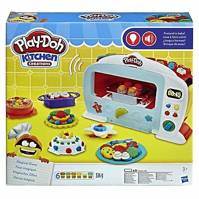 Play Doh Kitchen Set Oven Pretend Play Bake Muffin Pizza Cake
