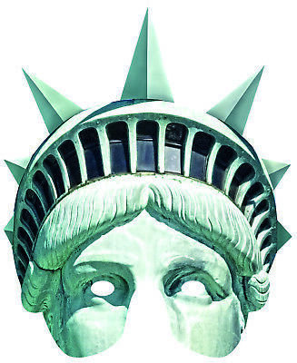 Rubies 6240420 Card Mask - Face Mask * Lady Liberty Maske aus Pappe * Freiheit