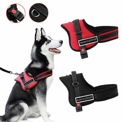 Control Large Dog Harness Adjustable Pet Walk Out Hand Strap Collar Soft S-XXL