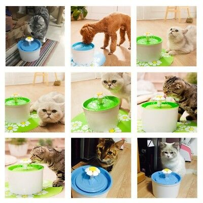 Automatic Electric Pet Water Fountain Puppy Dog Cats Floral Drinking Water Bowl