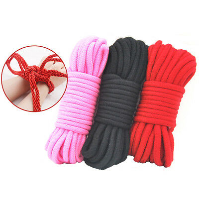 10m 33FT Japanese cotton Bondages Rope wear Soft to touch Shibari Tie Up Fun