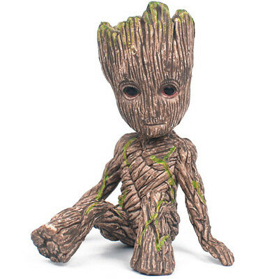 Guardians of The Galaxy Baby Groot Figure Flowerpot Pen Pot Toy Gifts 6CM XA