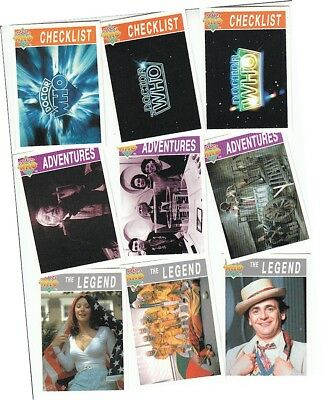 Doctor Who Serie 3 (drei) - 110 Karte Basis / Basisset - Dr Who - Cornerstone