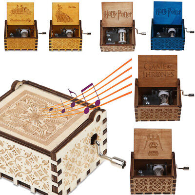 Harry Potter/ Star War/Beauty and Beast Music Box Engraved Wooden Music Gift Toy
