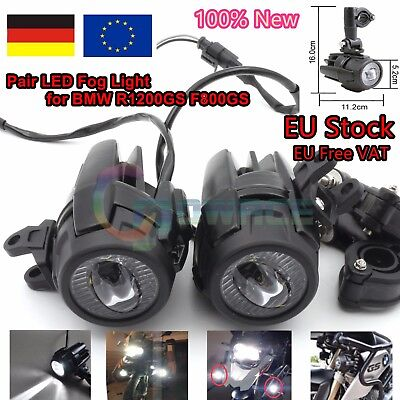 【DE】 2PCS LED Fog Light Safety Driving Auxiliary Replacement For BMW R1200GS ADV