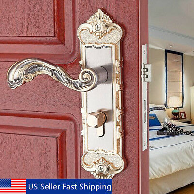 Fashion Antique Security Home Door Entry Handle Dual Latch Locks Set with 3 Keys