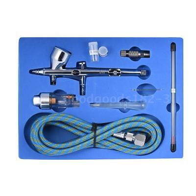Dual Action Airbrush 0.2+0.3+0.5mm Air Brush Spray Gun 9cc Ink Cup Paint Set Kit