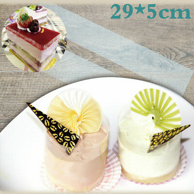 400 Pcs Acetate Cake Collars Clear Chocolate Mousse Acetate Sheet Roll 29x5cm