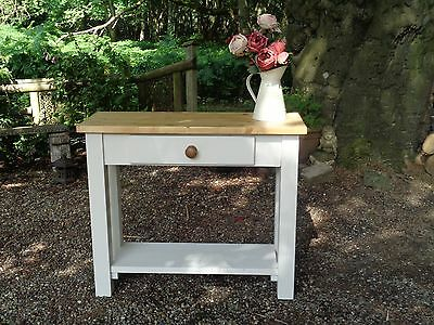 CONSOLE TABLE LAURA Ashley Paint Cream Drawer Shelf Country - Country cottage console table