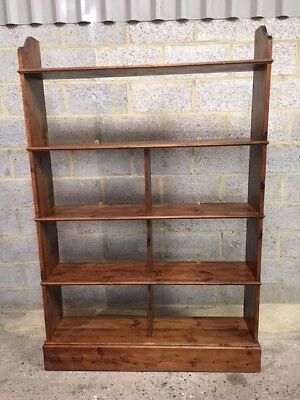 A large pine open bookcase