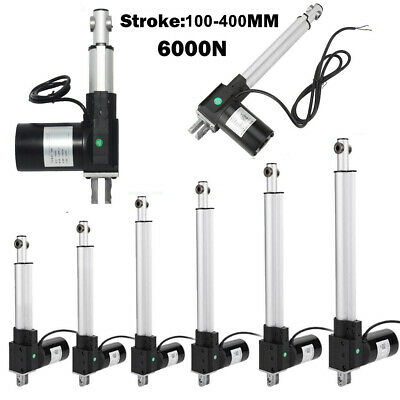100-400mm Linear Actuator 5mm/s 6000N/1350lbs Electric Motor Lift 12V Furniture