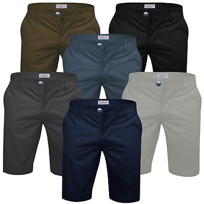 Mens Chino Shorts Stallion Stretch Premium Cotton Casual Half Pant Designer New