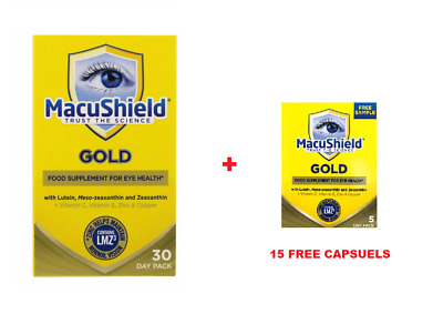 Macushield Gold 90 Capsules 1 Month Supply + 15 CAPSULES FREE