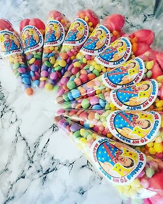 10 pre filled mr tumble spotty bag sweet cones