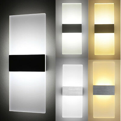 e18741824f4e LED Wall Light Up Down Cube Indoor & Outdoor Sconce Lighting Modern Lamp  Fixture