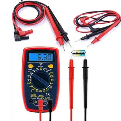 Needle Tipped Tip Multimeter Probes Test Leads Tester 1000V 10A 80cm Cable Long