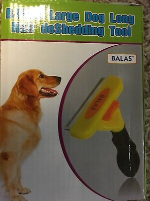 deShedding Tool for Large Dog 51-90 lbs with Long Hair dog comb