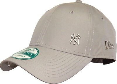 New Era 9FORTY Flawless New York Yankess Mens Cap Adjustable Grey Curved B521-15